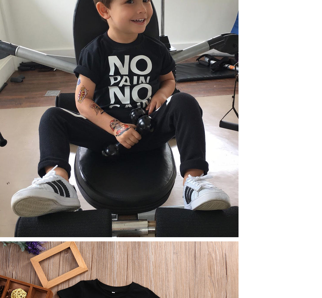 bfe04d026 Specifications of Toddler Kids Baby Boy Outfits Clothes No pain no gain T-shirt  Top+Pants 2pcs Set Sz 1-6T