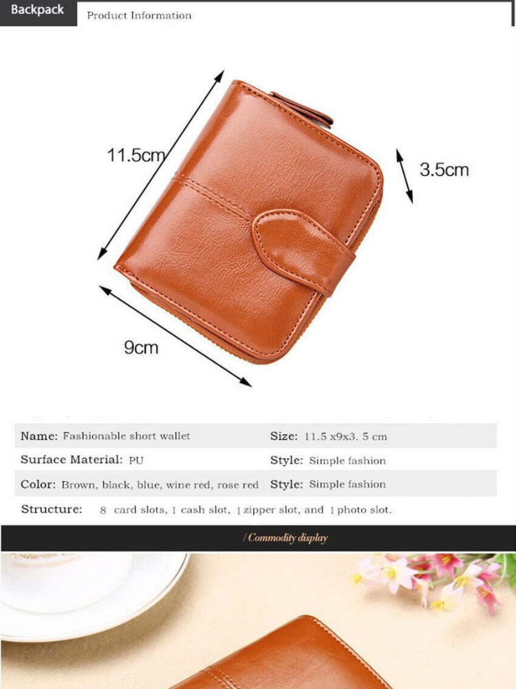 02541ed52 Specifications of JvGood Women Mini Soft Leather Bifold Clutch Wallet With  ID Window Card Sleeve Coin Purse