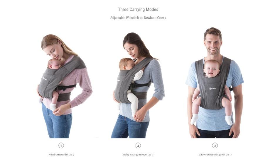 Ergobaby Embrace Cozy Newborn Carrier (Heather Grey)