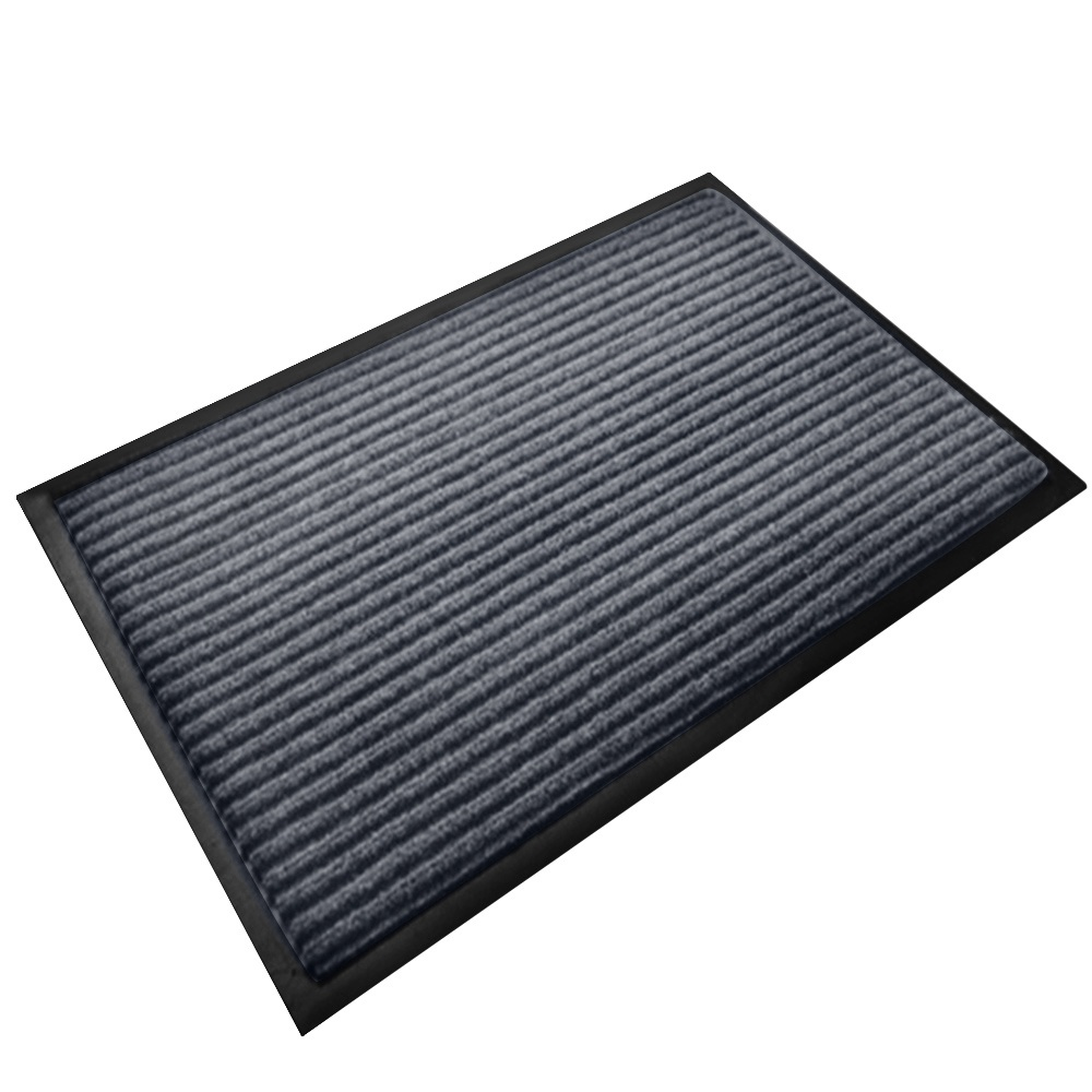 32 x 20inches Polyester PVC Non-slip Safety Floor Mat Soft Comfortable Carpet Pad for Home Bathroom Bedroom Living Room Children Room Kitchen Office Dark Gray